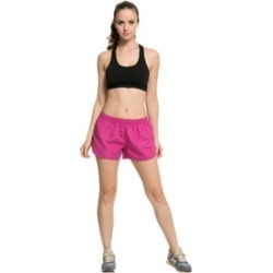 Women Sport Running Shorts Breathable Short Pants Material: polyester