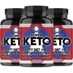 Angry Supplements Super Keto BHB Keto Diet Weight-Loss Aid Dietary Supplement (1, 2, or 3-Pack)