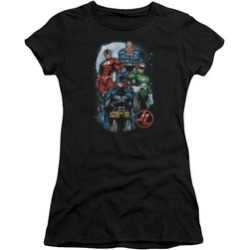 Uzstt Justice League DC Comics The Four Sheer Adult Tee