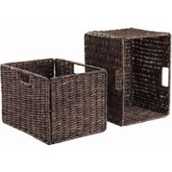 Granville Foldable 2-Pc Tall Baskets Corn Husk