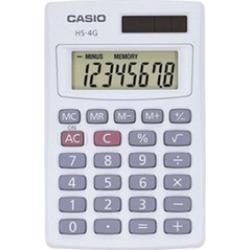 Casio HS4GS Basic Handheld Calculator HS4GS Pack Of 10