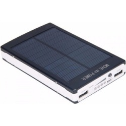 Power Up 30000mAh Dual USB Portable Solar Battery Cell Phone Charger