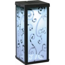 3011WRM1 Frosted Scroll Square Solar Lantern