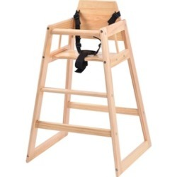 Costway Baby High Chair Wooden Stool Infant Feeding Children Toddler