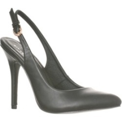 Riverberry 'Lucy' Pointed-Toe Sling Back Pump Heels, Black PU