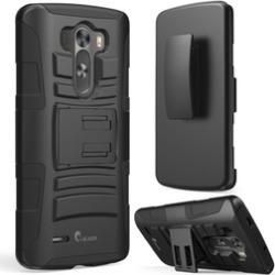 LG G3 Case, i-Blason, Prime Series Dual Layer Holster Case-Black