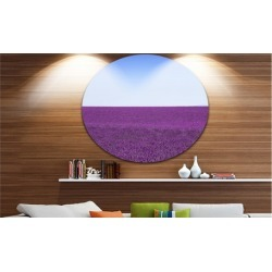 Lavender Flowers with Blue Horizon' Oversized Landscape Wall Art Print