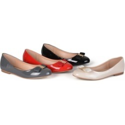 Journee Collection Womens Patent Round Toe Flats