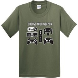 Choose Your Weapon Gamer Novelty Video Games Sarcastic Mens Very T Shirt