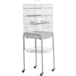 High Quality Bird Cage Parrot Cockatiel House Metal Stand with Wheels