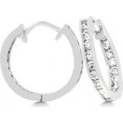 Jewelry 4 A Queen 19 MM INSIDE OUT HOOPS