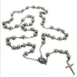 Steel Rosary Beads with Crucifix