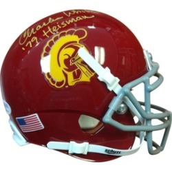 Autographed Charles White USC Trojans Mini Helmet