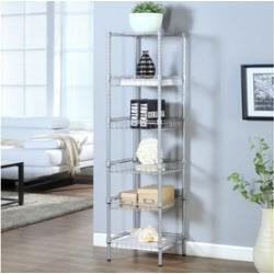 LANGRIA 6-Tier Storage Bathroom Shelving Baskets Corner Shelf Utility Rack for