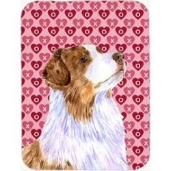 Carolines Treasures LH9138LCB 15 x 12 in. Australian Shepherd Hearts Love and Va
