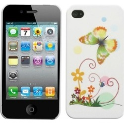 Insten Prismatic Butterfly Back Case For iPhone 4 4S