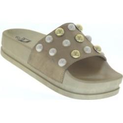 """N Demand Shoes """"Lea"""" Pearl Accent Slide Sandal LA102-2"""