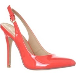 Riverberry 'Lucy' Pointed-Toe Sling Back Pump Heels, Coral Patent