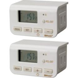 Woods 24h Digital Plug-In Timer (2-Pack)