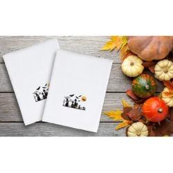 Linum 100% Turkish Cotton Embroidered Halloween Hand Towel Set (2-Piece)
