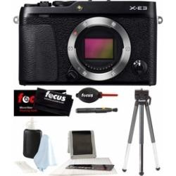 Fujifilm X-E3 Mirrorless Digital Camera (Black) and Accessories Bundle