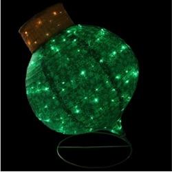 "36"" LED Twinkling Green Glitter Onion Ornament Christmas Yard D""cor"