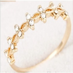 Elegant finger gold/silver wedding Ring (gold)