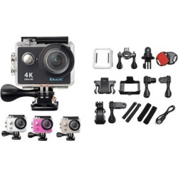 4K Ultra HD Wide Angle Lens WiFi Action Sport Camera with Case Mounts