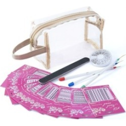Zodaca Nail Art Set Stickers/Rhinestones/Polish Pens/File Sandpaper found on MODAPINS from groupon for USD $9.99