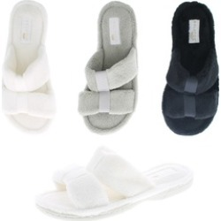 Gold Toe Women's Memory Foam Microterry Spa Bath Slide Slipper