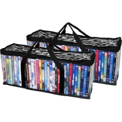 Evelots Portable DVD Blu-Ray Movies Video Games Cases, Holds 66, S/2