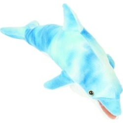 Sunny Toys FG7108B 12 In. Dolphin - Blue, Finger Puppet