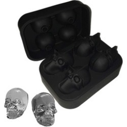 3D Skull Ice Mold Silicone Ice Cube Tray for Whiskey & Bourbon