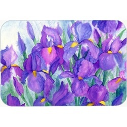 Carolines Treasures IBD0256CMT Purple Iris Kitchen or Bath Mat