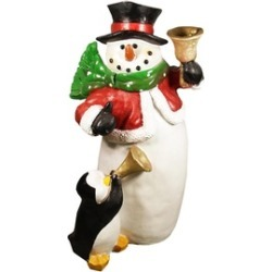 "46.5"" Commercial Size Snowman with Penguin Christmas Display D""cor"