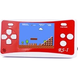 "8-Bit Retro 2.5"" COLOR LCD 150& Video Games Portable Console RED"