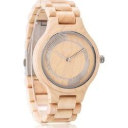 Wood Watch Hugo Mens Womens Maple Wooden Wrist Watch