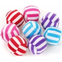 Rattle Cat Toys Ball Colorful Striped Balls