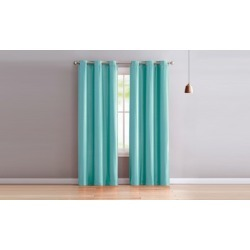 "Solid Faux Silk Window Curtain Panel Pair (84"" or 96"")"
