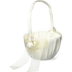 Beverly Clark 41VI Amour Flower Girl Basket - Ivory