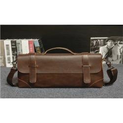 Men Bag Retro Shoulder Bag Document Messenger Handbag Rawhide