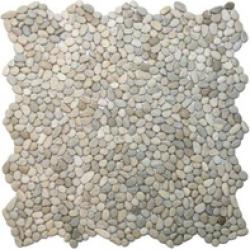 "Square Shape Pebble Tile 12"" x 12"" Interlocking Stone Mosaic"