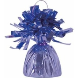 Beistle 50804-L Metallic Wrapped Balloon Weights - Lavender- Pack of 12