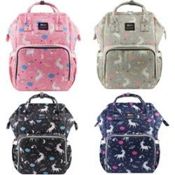 Mommy & Baby Multifunction Waterproof Travel Unicorn Diaper Bag Backpack