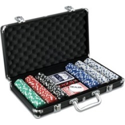Classic Game Collection - 300-Piece Poker Game Set in Black Aluminum Case