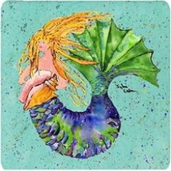 Carolines Treasures 8336FC Mermaid Foam Coasters - Set 4