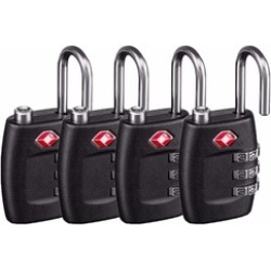 TSA Luggage Locks 4pk