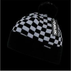 Decky K019-WHTBLK Changbai Checker Beanie - White & Black
