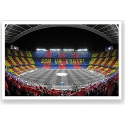 European Football Stadiums Poster