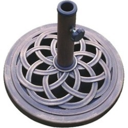 18-Inch Cast Stone Umbrella Base, Made from Rust Free Composite found on Bargain Bro India from groupon for $29.99
